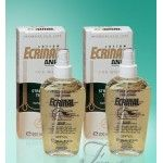 Ecrinal lotion sprays are easy to use as daily care products during an ECRINAL course of treatment for alopecia or excessive male or female hair loss of any kind. They provide ANP (tricholipids – horse mane extract) when used between ampoules or cream applications. There are 2 lotions, one for men and one for women with thinning hair, (different fragrances). Always shake well before applying. Spray onto dry hair and distribute the lotion over the scalp.