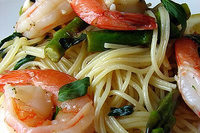 Healthy Diabetic Recipe for Shrimp Linguine