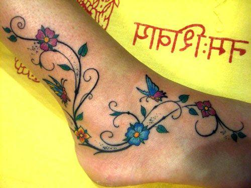 Ankle Bracelet Tattoos | 45 Stupendous Ankle Tattoos | CreativeFan