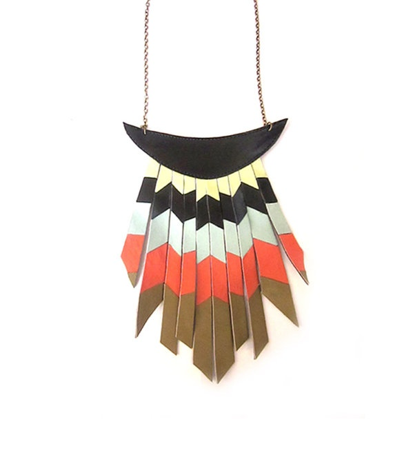 aboriginal necklace.   For more ethnic fashion and tribal style visit www.wandering-threads.com
