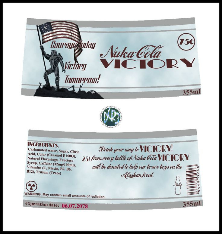 Nuka_Cola_Victory_ Label by DCRIII on DeviantArt