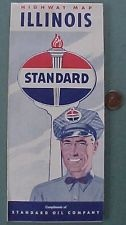 Old Standard Oil company map of Illinois with another uniform style on eBay