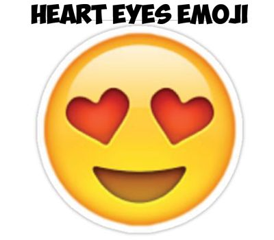 how to draw a heart face emoji