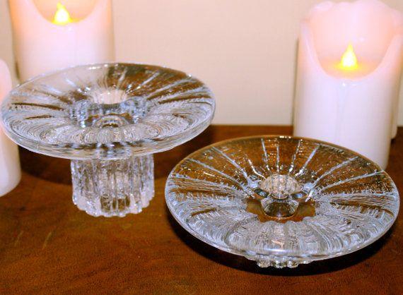 Vintage Iittala Candle Holders 2 Iittala Bolero by MillyCatVintage