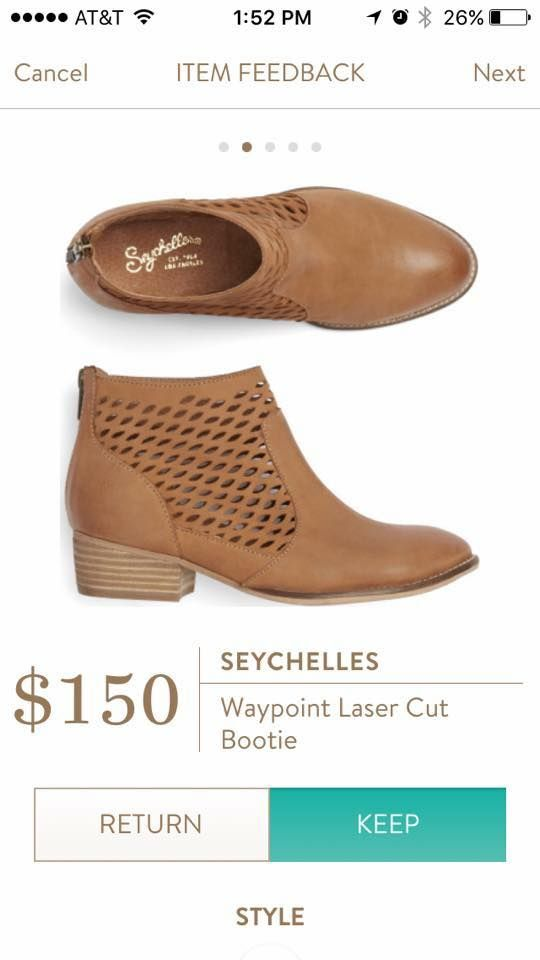 Seychelles Waypoint Laser Cut Bootie in tan. I bought these 50% off at Amazon and I love them! Michelle I could use a cute cotton summer dress to go with them!