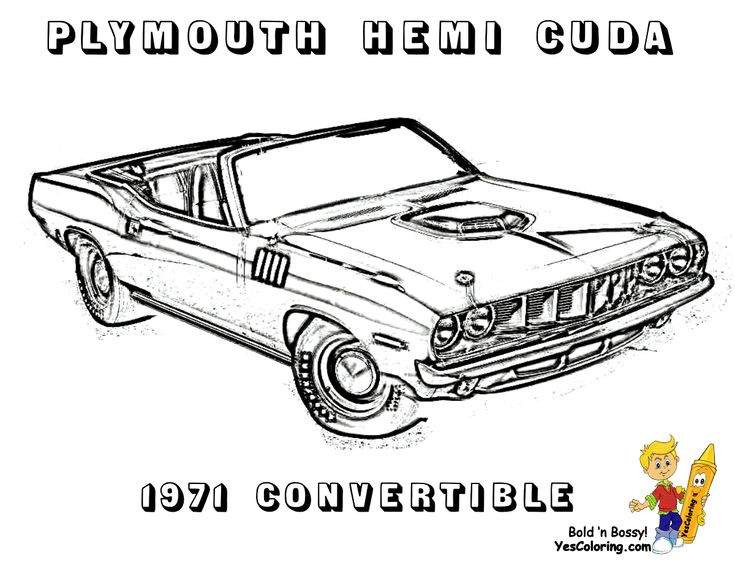 20 Best Brawny Muscle Car Coloring Pages Images On Pinterest General Car Coloring Pages