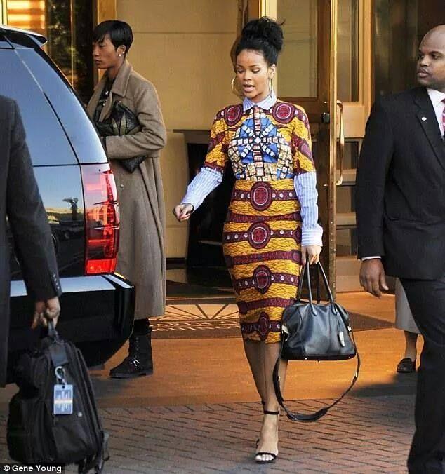 (Photos) Beyonce et Rihanna en mode africaines avec le pagne Wax.