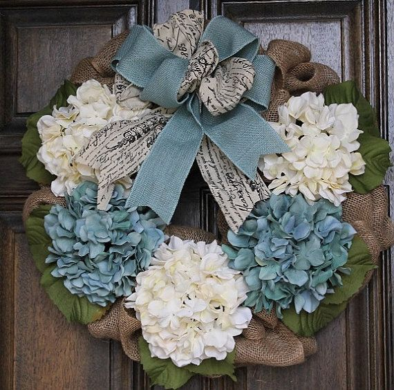 Shabby Chic Wreath Burlap Wreath Mother's by theembellishedhome, $60.00