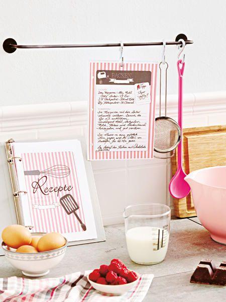 mit vorlagen h bsches rezeptbuch zum ausdrucken rezeptb cher monat und geschenk. Black Bedroom Furniture Sets. Home Design Ideas