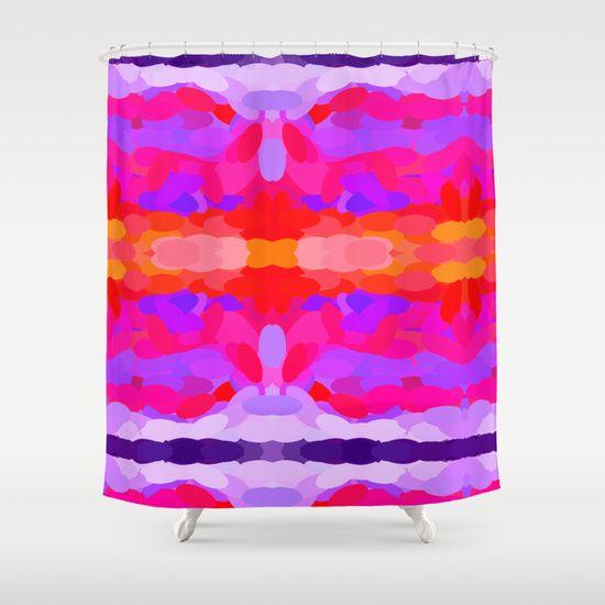 Purple, pink and orange tie dye Shower Curtain | Orange ...