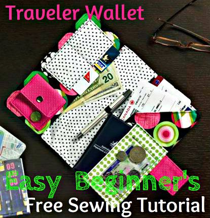 easy sewing project to make travel wallet