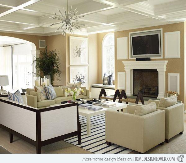 15 Flexible Beige Living Room Designs