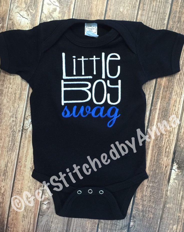 Little Boy Swag Onesie, newborn baby boy outfit by GetStitchedByAnna on Etsy