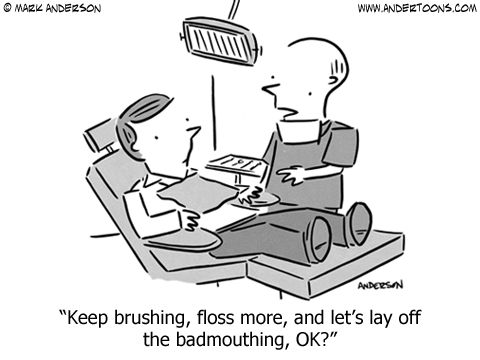 Funny Dentist Cartoon.