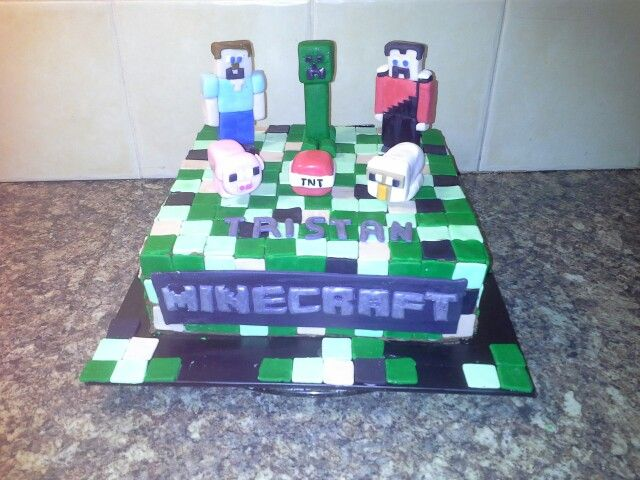 Minecraft cake for Tristan