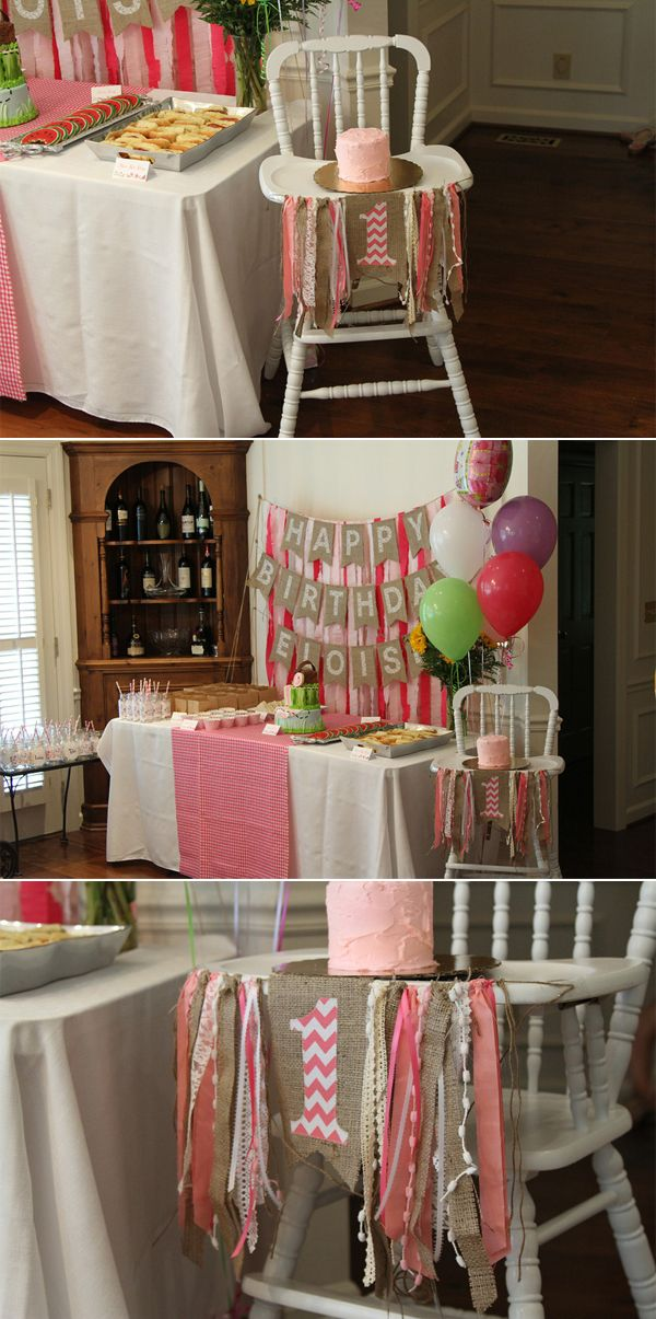 Eloise's pink picnic first birthday -  coming up after the 4th - how we refinished the Jenny Lind high chair to become an heirloom birthday gift!