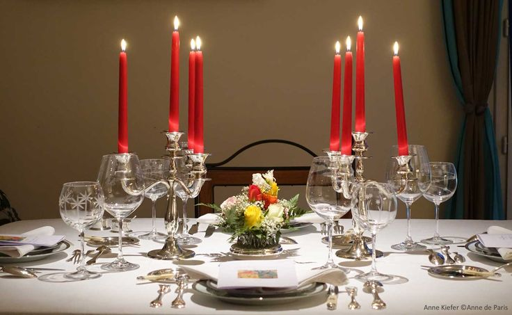 Diner privé chez Marc Chagall. Argenterie d'Antan s'associe à Anne de Paris pour organiser des dîners sélects dans un Paris secret.