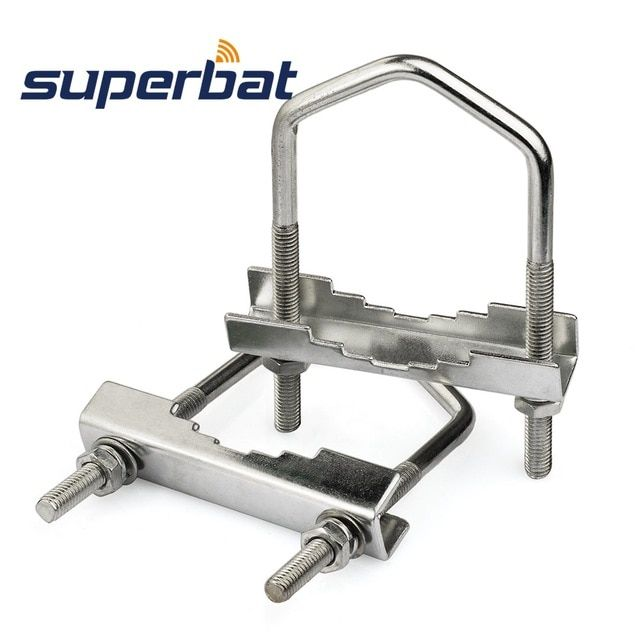 Superbat U Bolt Clamp 3 9High x 2 36Wide Mast Clamp Support
