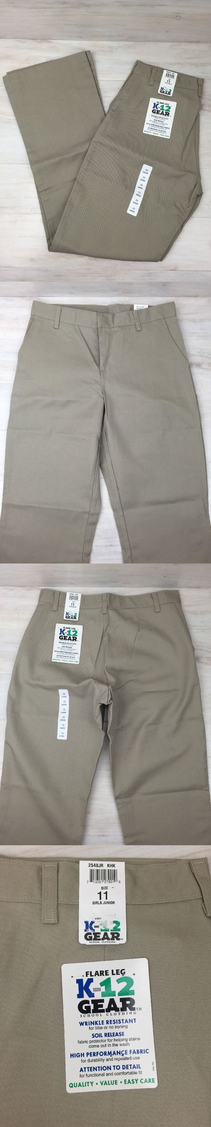 Uniforms 175652: School Uniform Pants Girls Junior Size 11 Khaki Flare Leg Lot Of 3 2548Jr Nwt -> BUY IT NOW ONLY: $41.99 on eBay!