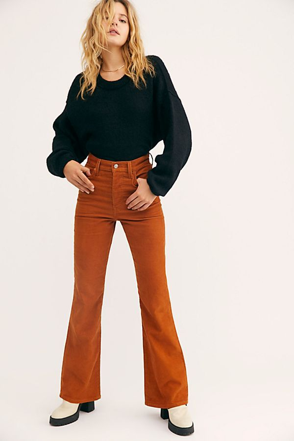 Levi S Ribcage Cord Flare Jeans Flare Jeans Levi Petite Flare Jeans