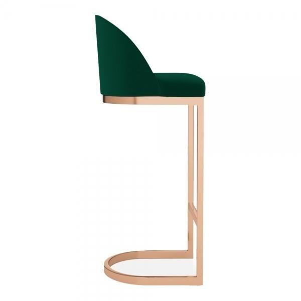 Luxe Curve Cantilever Velvet High Back Copper Brass Black Leg