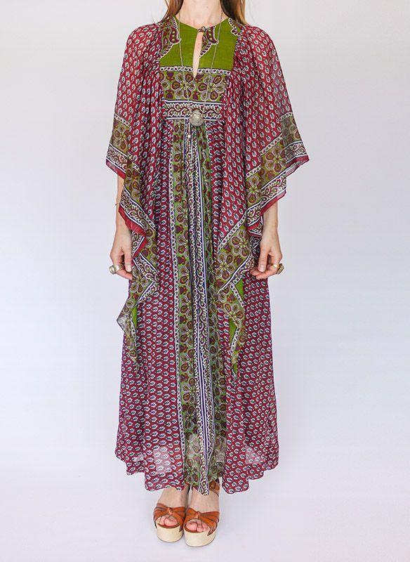 60s vintage Indiase hippie jurk