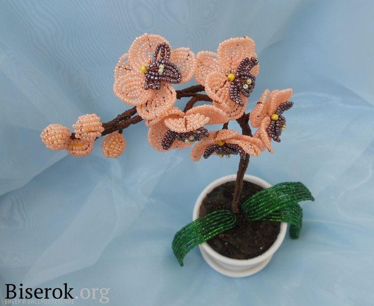 Орхидея из бисера: Jewelry Tutorials, Orchids Орхидея, French Flower, Beads Орхидея, Beads Flower, Luv Secret, Orchids Beads, Beads Techniques, Beads Orchids