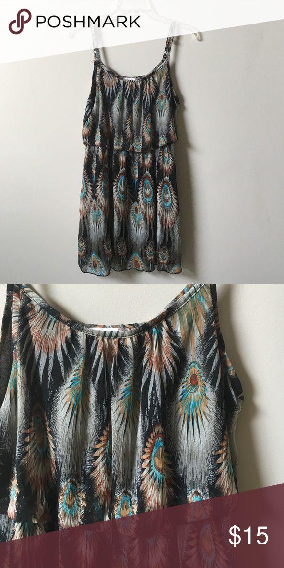 Navajo print dress Worn once Navajo print dress excellent condition Dresses Midi
