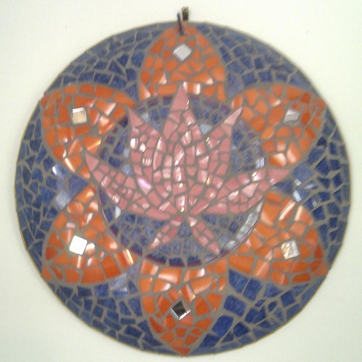 Lotus Mosaic Wall Hanging