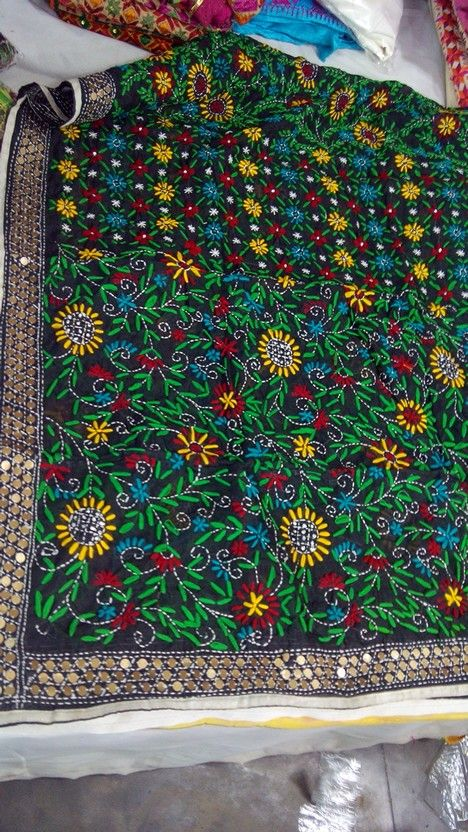 Hand embroidered Phulkari dupatta available @ www.facebook.com/palakscreations