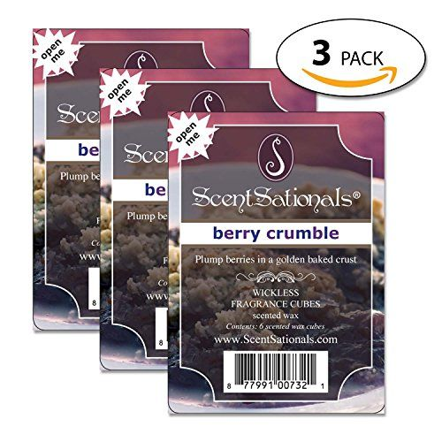 Scented Wax Cubes - 3-Pack Summer Scents - Scentsactionals - Scented Wax Cubes For Electric Wax Warmer, Candle warmer or electric tart warmer (Berry Crumble) *** Want additional info? Click on the image. #ScentedCandles