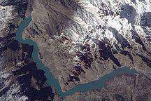 Landslide Lake in Northwest Pakistan : Image of the Day : NASA Earth Observatory