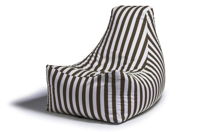 Juniper Outdoor Bean Bag Chair - Taupe Stripe