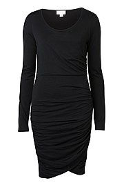 Long Sleeve Ruched Dress $129.95