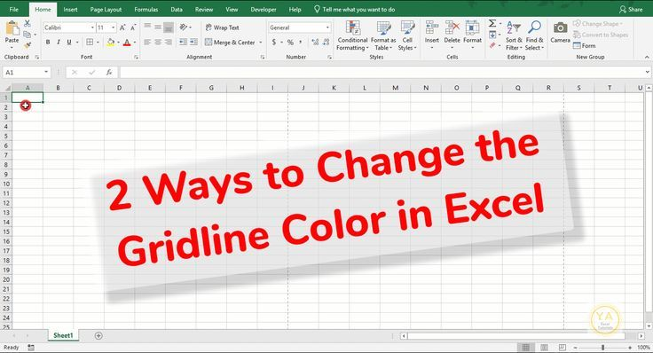 Did You Know You Can Change The Color Of The Gridlines In Your Excel Spreadsheets We Ll Look At 2 Ways You Can Do T Excel Tutorials Excel Spreadsheets Excel