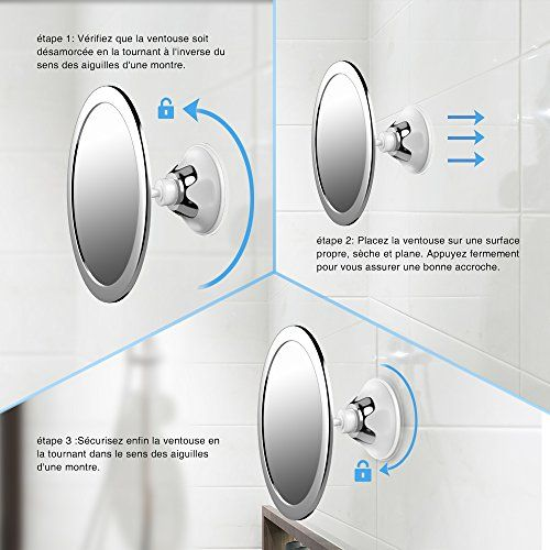 Les 25 meilleures id es de la cat gorie miroir anti bu e for Miroir pour douche