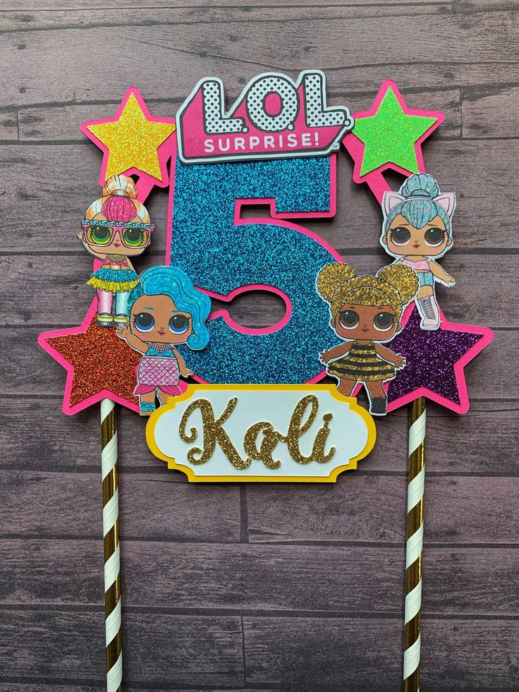 LOL dolls Cake Topper | LOL dolls Birthday Decor – Birthday.