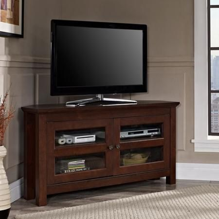 "Walker Edison Black Corner TV Stand for TVs up to 52"", Multiple Colors - Matches my coffee table and end tables"