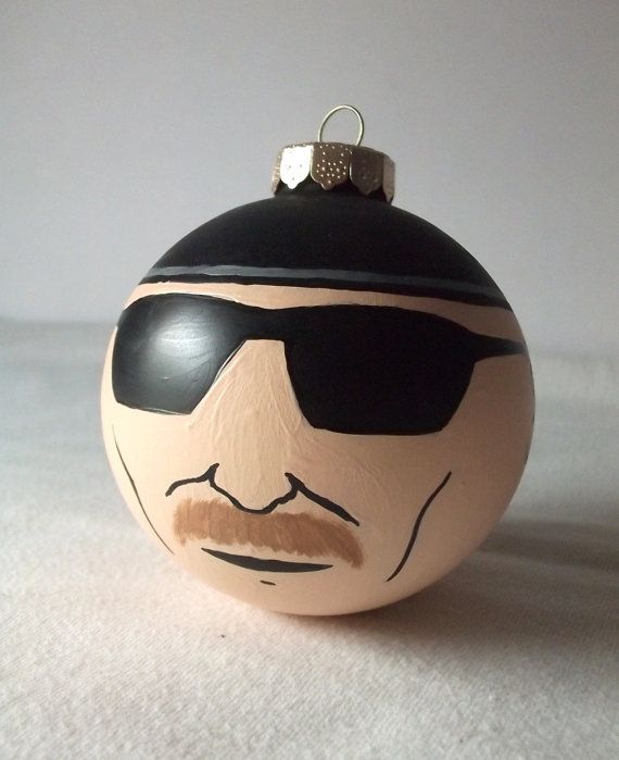 Breaking Bad Heisenberg Painted Holiday Christmas Ornament Walter White