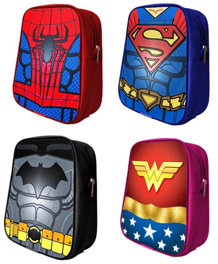 mochilas dulcero super heroes para fiesta infantil lavables