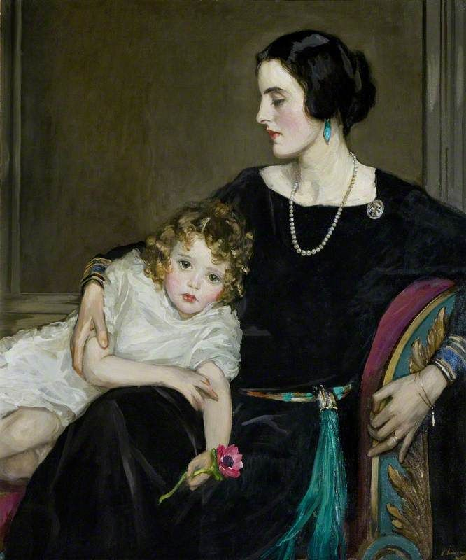 Anne Moira and the Honourable Mrs Forbes-Sempill, 1923, by Sir John Lavery (1856-1941)