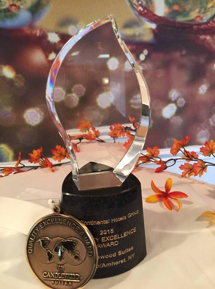 2015 IHG Quality Excellence Award! #IHG #candlewoodsuites #award