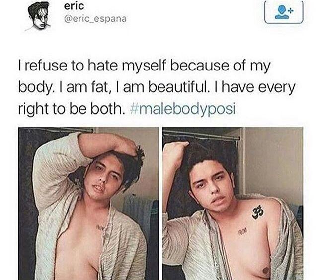 ✨ Men deserve body poitivity too. That's a part of feminism.