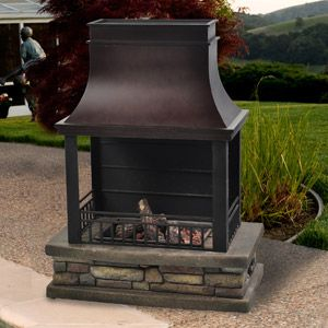 Cheyenne Outdoor LP Gas Fireplace--would be nice for deck or front patio area