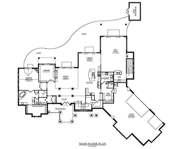 Great floor plan change rec room to theater no basement for No basement house plans