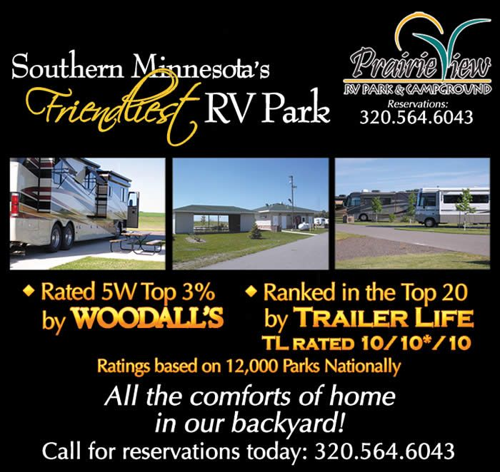 MN Prairie View Casino RV Park Near Granite Falls Clean Bathrooms And Showers Paved Fhu Gravel Electric Only Nice Grounds Playground Dog Area