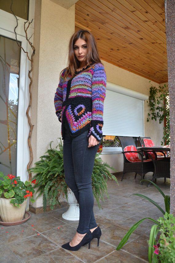 Women Crochet Blouse  Claudia by AnnesMagicCrochet on Etsy