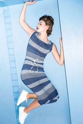 Maxi-jurk met strepen