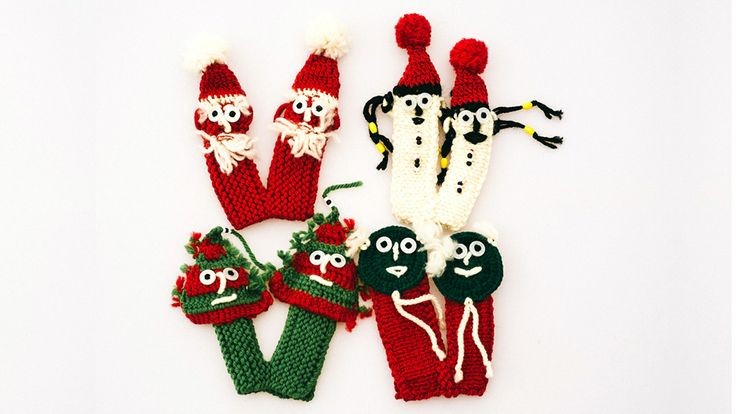 Holiday finger warmers by Ricefield Collective