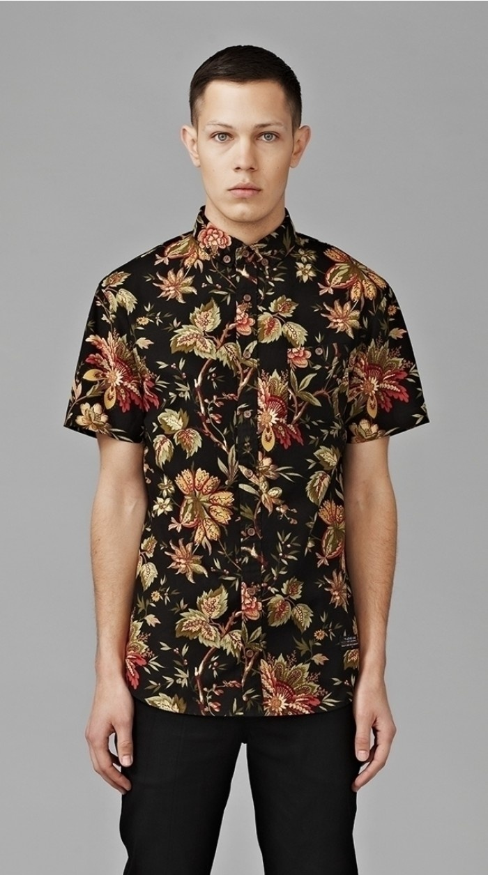 I Love Ugly: Blacked Out Floral Shirt  $109.00